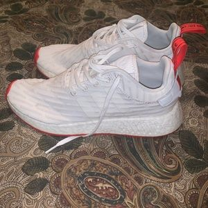 Adidas nmd white and red color way
